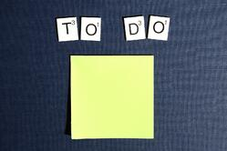 Checklist of to-do's